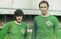 George Best & Derek Dougan of Northern Ireland in 1968.