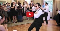 Groom and his men put on a hilarious surprise dance for his beautiful bride! ;-D