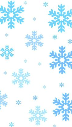 IPhone wallpaper snowflake blue pattern