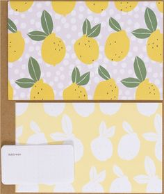 kawaii Letter Paper set from Japan with lemons