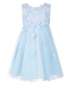 Платье Baby Ruby Butterfly   Синий   Monsoon