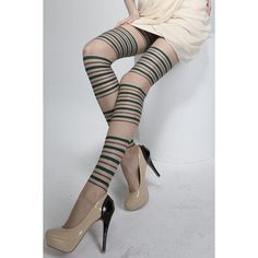 Wholesale Chic Stripe Pattern Color Block Pantyhose For Women Only $2.57 Drop Shipping | TrendsGal.com