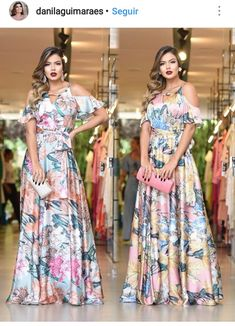 Stunning Dresses, Pretty Dresses, Debut Dresses, Cute Dresses For Party, Lace Evening Gowns, Floral Maxi Dress, Chic Outfits, Dress Patterns, Fashion Dresses