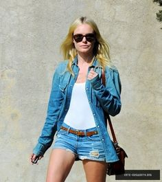 Kate Bosworth, working the denim trend