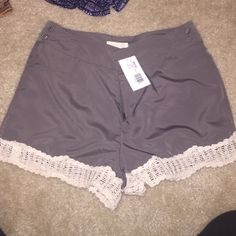Brand new tulle crochet trip shorts size 2 Size 2 brand new. Tags still on Tulle Shorts