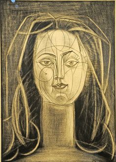 Pablo Picasso - Françoise with Long Neck I state IV, 1946 Pablo Picasso Drawings, Picasso Portraits, Picasso Art, Picasso Paintings, Oil Paintings, Landscape Paintings, Georges Braque, Oil Painting Abstract, Watercolor Artists