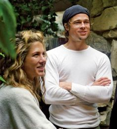 Jennifer Aniston and Brad Pitt early days