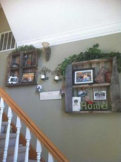 It is a simple way to decorate your staircase wall. Brilliant!