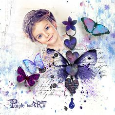 Purple-Heart LO  by Traumelfe.  Kit by G&T Designs @ E-scape and Scrap