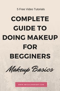 Free makeup videos tutorials on how to do makeup from start to finish. Learn…
