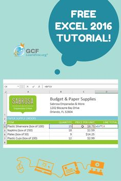 Excel 2016 is the spreadsheet application in the Microsoft Office 2016 suite. This GCFLearnFree.org tutorial will show you how to use the powerful tools in Excel 2016 for organizing, visualizing, and calculating your data.