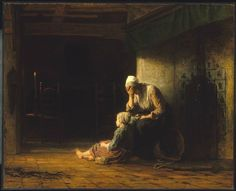 The Day Before Parting - Jozef Israels (c.1862)