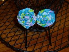 Fabric Hand Roll Flower Top Bobby Pins by TrueColorsBoutique, $5.00