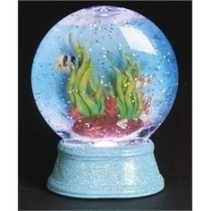 Under the Sea Tropical Fish Tank Snow Globe