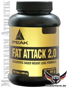 Peak Fat Attack ist ein funktionales Diätsupplement mit Glucomannan, Cholin, Chrom und Flohsamenschalen, das effektiv zum Gewichtsverlust beiträgt.