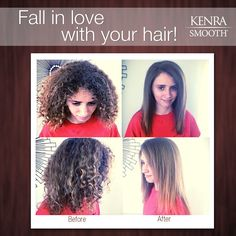 Leave the frizz behind this fall. Ask your stylist about Kenra Smooth®!  Work by Tara Akers.