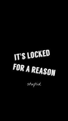 It's Locked For A Reason Stupid iPhone 6 Wallpaper