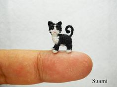 micro crochet animals small enough to balance on your finger