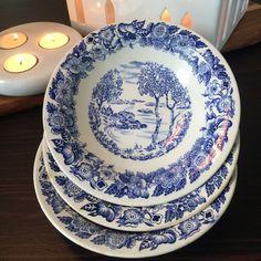 Egersund fajanse vintage suppeskåler Norway, Dinnerware, Retro Vintage, Porcelain, Plates, Tableware, Dinner Ware, Licence Plates, Porcelain Ceramics
