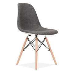 Eames Style Grey DSW Chair Upholstered | Dining Chairs | Cult UK £89.00