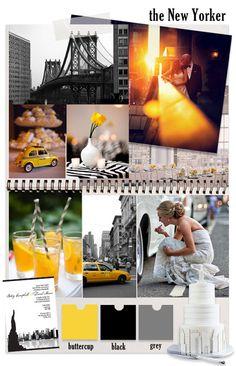 The new yorker NYC wedding theme inspiration Wedding Theme Inspiration, Wedding Themes, Party Themes, Colour Inspiration, Wedding Bride, Our Wedding, Dream Wedding, Wedding Dress, New York Theme Party