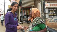 Old woman seen wandering around in Jalahalli in search of food