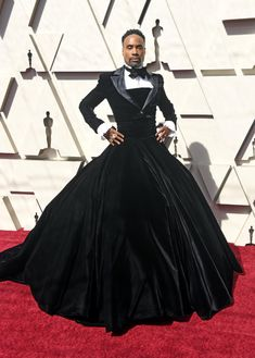 28df56bf Billy Porter at Oscars 2019 in a tux dress. Christian Siriano, Victorian,  Gowns