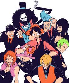 Nami, Sanji, Franky, Nico Robin, Roronoa Zoro, Usopp, Monkey D. Luffy, Tony Tony Chopper, Brook, || Straw Hat Pirates || One Piece