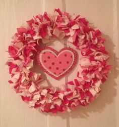 aDOORableWREATH Valentine's Day Wreath Decor love red pink white Cupid hearts day sweetheart heart polka dot (39.00 USD) by MOSTaDOORableWREATHS