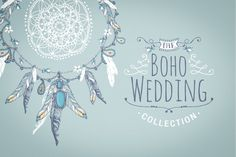 Check out Boho chic wedding & blog collection by Glanz Graphics on Creative Market