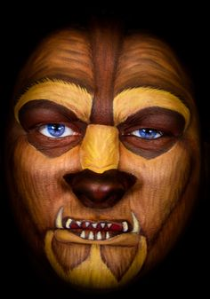 Beast face paint by Carole FERRER #disney #beautyandthebeast #snazaroo #facepaint