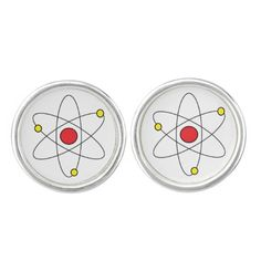 """""""Atom"""" Cufflinks makes a great teacher gift or for anyone who loves science!"""