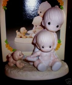 "Precious Moments ""Baby's First Pet"" Porcelain Figurine Precious Moments"