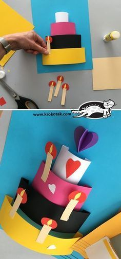 , Best Picture For DIY Birthday Cards invitations For Your Taste You are looking for something, and it is going to tell you exactly what you a Happy Birthday Crafts, Happy Birthday Greetings, Diy Birthday, Card Birthday, Birthday Ideas, Birthday Cards From Kids, Birthday Quotes, Projects For Kids, Diy For Kids