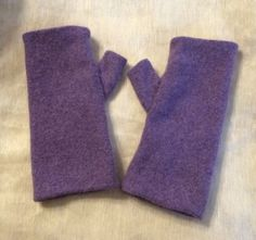 C69 purple Cashmere arm warmer women girls by mcleodhandcraftgifts