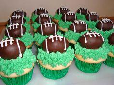 Oreo Truffle Football Cupcakes