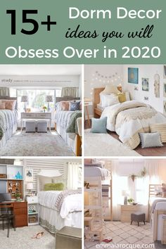All of the dorm room decor ideas that you need for your freshman year! Figure out the right setup and all of your creative decorations. Whether you're looking for themes, organization, or just your dorm room essentials, this post is for you! Find the right color scheme, or find all of the products that you need for a boho theme or a minimalist theme. Also included are some bedding ideas to help you find the right aesthetic! #dormroom #college #aesthetic Girl College Dorms, College Dorm Rooms, College Tips, Cozy Dorm Room, Dorm Room Organization, Dorm Essentials, College Aesthetic, Minimalist Bedroom, Creative Decor