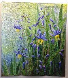 Flax Lily by Bernardine Hine, Australia. byannelize : European Patchwork Meeting Alsace 2014
