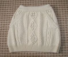 cable knit skirt Would be so cute with a matching sweater and some tights!