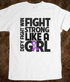 Pancreatic Cancer Fight Strong Like a Girl Shirts #fightlikeagirl