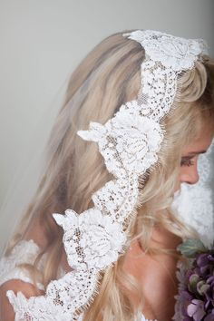 Love this veil! So a Love this veil! So affordable here too! wedding veils lace wedding veils mantilla veils veil with lace bridal veils drop veils diy wedding veils Veil Diy, Diy Wedding Veil, Lace Wedding, Wedding Dresses, Trendy Wedding, Diy Lace Veil, Wedding Garters, Lace Bride, Wedding Vows