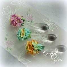 #OxiGra #wisiorek #kwiaty #kropla #polymerclay