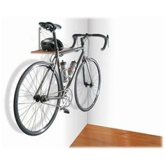 Monet single bike rack and shelf