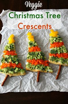 veggie christmas tree crescentslife with the crust cut off