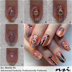 Summer Inspired Nail Art Tutorial.