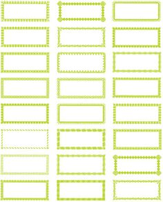 Lime labels #free #printable @Kolbi Furgason Furgason Couts there's also these lime ones if you like any of them, with maybe charcoal or black print?