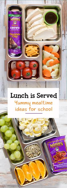 Routine to school = return to the lunch packing routine! Return to school with delicious Annie's snacks, perfect for your kid's lunch box. From berry delicious fruit snacks to chewy, chocolatey and perfectly portable organic granola bars, set the lunch ba Fruit Snacks, Lunch Snacks, Healthy Snacks, Fruit Box, Healthy Kids, Healthy Eating, Kids Lunch For School, Lunch To Go, School Lunches