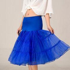 d202925089f2 2016 Royal Blue Petticoat Summer Dress Short A Line Crinoline Underskirt  Tutu Skirts Wedding Dress Skirt A Line Skirts