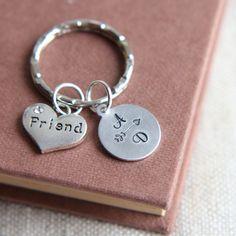 Friendship Keychain Friendship Keyring Arrow Keychain Heart