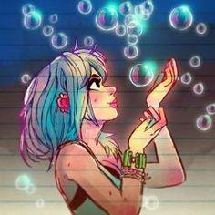 Amazing Drawings, Cool Drawings, Amazing Art, Pretty Art, Cute Art, Cartoon Drawings, Cartoon Art, Digital Art Girl, People Art